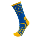 Brybelly Medium Basketball Compression Socks, Blue/Gold