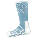 Brybelly Large Basketball Compression Socks, Light Blue/White