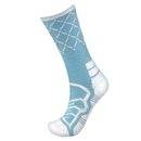 Brybelly Medium Basketball Compression Socks, Light Blue/White