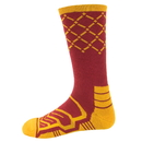 Brybelly Large Basketball Compression Socks, Red/yellow