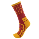 Brybelly Medium Basketball Compression Socks, Red/Yellow