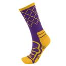 Brybelly Medium Basketball Compression Socks, Purple/Yellow