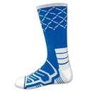 Brybelly Large Basketball Compression Socks, Blue/White