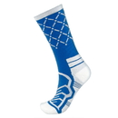 Brybelly Medium Basketball Compression Socks, Blue/White