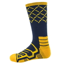 Brybelly Large Basketball Compression Socks, Navy/Yellow