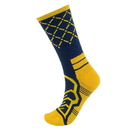 Brybelly Medium Basketball Compression Socks, Navy/Yellow