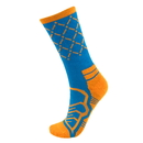 Brybelly Medium Basketball Compression Socks, Blue/Orange