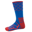 Brybelly Large Basketball Compression Socks, Blue/Red