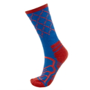 Brybelly Medium Basketball Compression Socks, Blue/Red