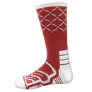 Brybelly Large Basketball Compression Socks, Red/White