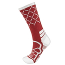 Brybelly Medium Basketball Compression Socks, Red/White