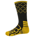 Brybelly Large Basketball Compression Socks, Black/Yellow