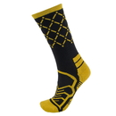 Brybelly Medium Basketball Compression Socks, Black/Yellow