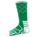 Brybelly Large Basketball Compression Socks, Green/White
