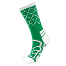 Brybelly Medium Basketball Compression Socks, Green/White