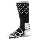 Brybelly Large Basketball Compression Socks, Black/White