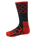 Brybelly Large Basketball Compression Socks, Black/Red