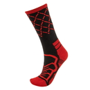 Brybelly Medium Basketball Compression Socks, Black/Red