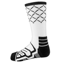 Brybelly Large Basketball Compression Socks, White/Black