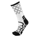 Brybelly Medium Basketball Compression Socks, White/Black