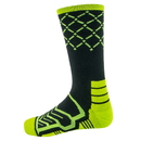 Brybelly Large Basketball Compression Socks, Black/Green