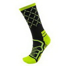 Brybelly Medium Basketball Compression Socks, Black/Green