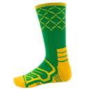Brybelly Large Basketball Compression Socks, Green/Yellow