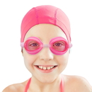 Brybelly Kids Swim Goggles & Case, Pink