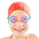 Brybelly Colorful Kids Goggles with Case, Cotton Candy