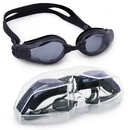 Brybelly Clear Swimming Goggles with Case, Black
