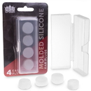 Brybelly Molded Silicone Ear Plugs, 4-Pack with Case