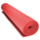 Brybelly 1/8-inch (3mm) Compact Yoga Mat with No-Slip Texture - Red