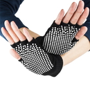 Brybelly Black Fingerless Yoga Gloves with Slip-Free Beads