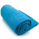 Brybelly Blue Non-Slip Microfiber Hot Yoga Towel with Carry Bag