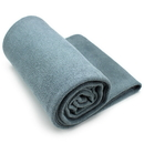 Brybelly Gray Non-Slip Microfiber Hot Yoga Towel with Carry Bag