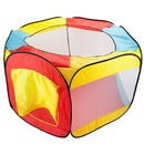 Brybelly Hexagon Pop Up Ball Pit Tent with Mesh Netting and Case