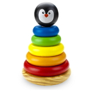 Brybelly Wooden Wonders Rainbow Rings Stacking Tower