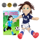 Brybelly Soccer Girl Cassie Read & Play Doll and Book Set