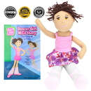 Brybelly Dancer Girl M.C. Read & Play Doll and Book Set