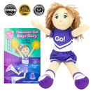 Brybelly Cheerleader Girl Roxy Read & Play Doll and Book Set