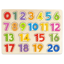 Brybelly Professor Poplar's Wooden Numbers Puzzle Board