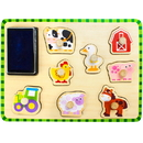 Brybelly Puzzle Stampers Barnyard Animals