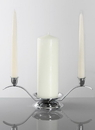 Beverly Clark Tri-Unity Candle Holder - Silver tone