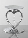Beverly Clark Silver Heart Pillar Holder