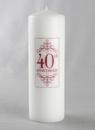 Jamie Lynn 40th Anniversary Pillar Candle