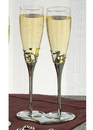 Beverly Clark LOVE Toasting Flutes and Base