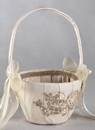 Bella Donna Flower Girl Basket, Champagne