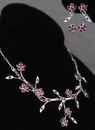 Ivy Lane Design Crystal Flower Vines Necklace and Earrings Set