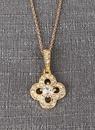 Ivy Lane Design Crystal Clover Necklace Pendant