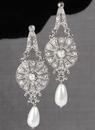 Ivy Lane Design Crystal and Pearl Drop Earrings